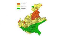 Mappa delle zone sismiche del Veneto