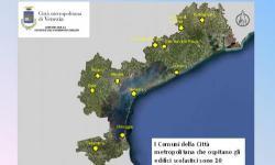 la mappa delle scuole nel territorio metropolitano