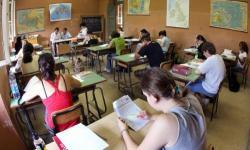Foto simbolica di una classe di liceo. Controlli sono stati effettuati nelle scuole superiori della provincia di Venezia