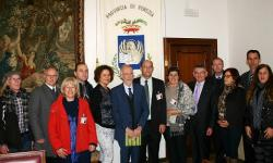 Venezia, delegazione veneto brasiliana in visita a Ca' Corner