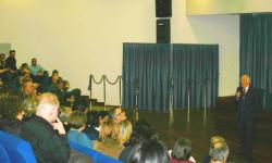 Mestre, un momento dell'incontro con il personale provinciale all'auditorium della Provincia