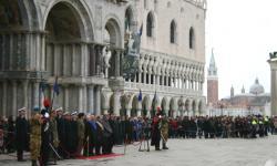 Venezia, piazza San Marco: celebrazione del 154esimo Unità d'Italia