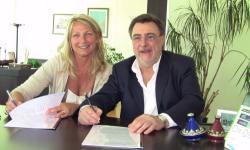 firmatari: Zaccariotto e Chisso sottoscrivono la convenzione