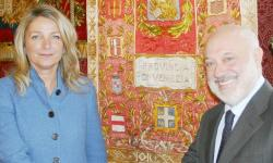 la Presidente della Provincia con il prefetto Domenico Cuttaia
