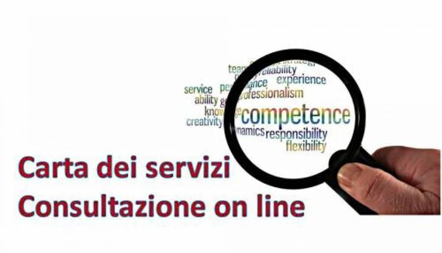 carta dei servizi 2021 consultazione on line