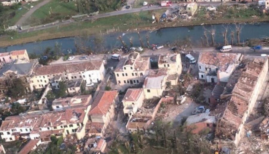 Danni del tornado in Riviera del Brenta